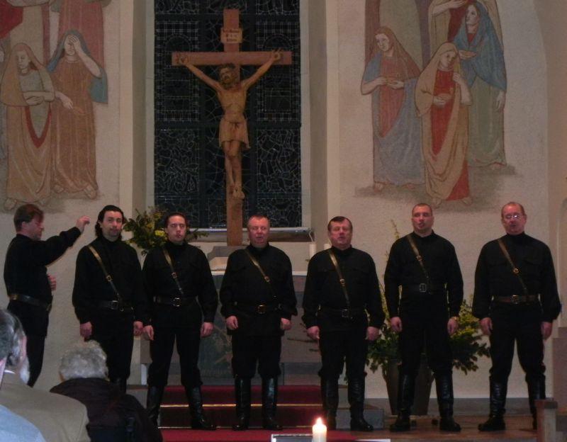 Die Don Kosaken in der Kirche in Schömberg